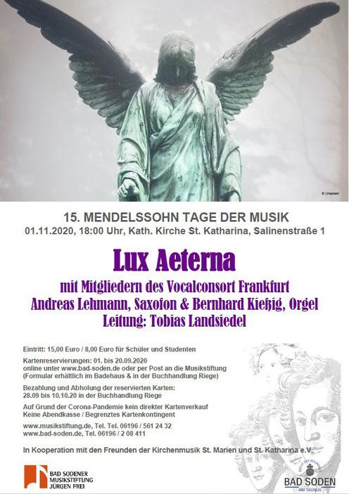 Lux Aeterna Konzertplakat