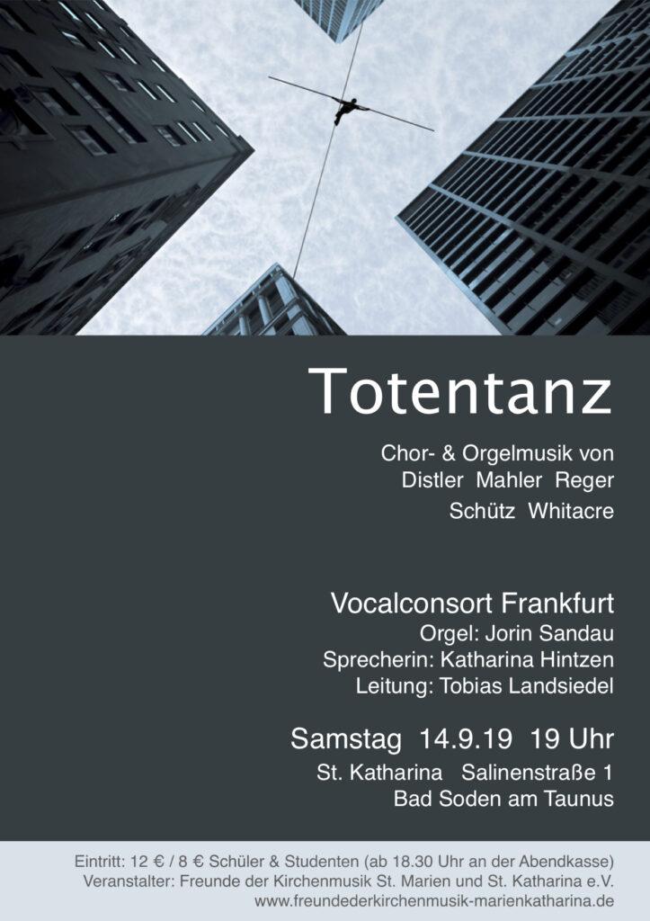 Vocalconsort Frankfurt: Konzert Totentanz September 2019